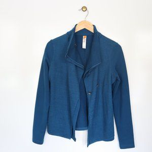 Lucy Blue Button Sweater Size Small